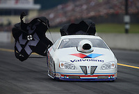 Oct. 6, 2012; Mohnton, PA, USA: NHRA pro stock driver Ron Krisher during qualifying for the Auto Plus Nationals at Maple Grove Raceway. Mandatory Credit: Mark J. Rebilas-