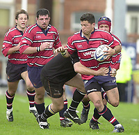 18/05/2002.Sport -Rugby Union- Zurich Championship Quarter final.Gloucester vs Newcastle.Gloucester full back Henry Paul  joins the attacking line ..[Mandatory Credit, Peter Spurier/ Intersport Images].