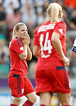 Olympique Lyonnais' Eugenie Le Sommer (l) and Ada Hegerberg dejected during UEFA Women's Champions League 2015/2016 Final match.May 26,2016. (ALTERPHOTOS/Acero)