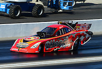 Nov. 10, 2012; Pomona, CA, USA: NHRA funny car driver Jim Head during qualifying for the Auto Club Finals at at Auto Club Raceway at Pomona. Mandatory Credit: Mark J. Rebilas-