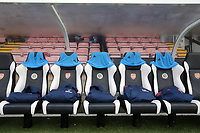 General view of the home dugout during Arsenal Women vs Bristol City Women, Barclays FA Women's Super League Football at Meadow Park on 1st December 2019