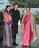 """KING AND QUEEN OF BHUTAN VISIT INDIA.The King of Bhutan, His Majesty Jigme Khesar Namgyel Wangchuck and Queen Jetsun Pema Wangchuck meet Congress Party Leader Sonia Gandhi at her residence in New Delhi _25/01/2013. .King Wangchuk and Queen Jetsun Pema Wangchuck were the Chief Guests at the Indian Republic Day celebrations..Mandatory Photo Credit: ©Kumar/Newspix International..**ALL FEES PAYABLE TO: """"NEWSPIX INTERNATIONAL""""**..PHOTO CREDIT MANDATORY!!: NEWSPIX INTERNATIONAL(Failure to credit will incur a surcharge of 100% of reproduction fees)..IMMEDIATE CONFIRMATION OF USAGE REQUIRED:.Newspix International, 31 Chinnery Hill, Bishop's Stortford, ENGLAND CM23 3PS.Tel:+441279 324672  ; Fax: +441279656877.Mobile:  0777568 1153.e-mail: info@newspixinternational.co.uk"""