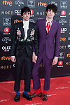 Javier Ambrossi and Javier Calvo attends red carpet of Goya Cinema Awards 2018 at Madrid Marriott Auditorium in Madrid , Spain. February 03, 2018. (ALTERPHOTOS/Borja B.Hojas)