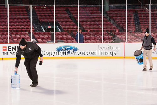 Andrew Zagorianakos (PC - Manager), Stephen Basiel (PC - Athletic Trainer) - The Providence College Friars practiced at Fenway on Friday, January 6, 2017, in Boston, Massachusetts.