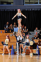 25 February 2012:  FIU's cheerleaders fire up the crowd in the second half as the FIU Golden Panthers defeated the University of South Alabama Jaguars, 81-74, at the U.S. Century Bank Arena in Miami, Florida.