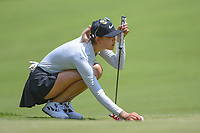 Michelle Wie (USA) lines up her putt on 10 during round 1 of the 2018 KPMG Women's PGA Championship, Kemper Lakes Golf Club, at Kildeer, Illinois, USA. 6/28/2018.<br /> Picture: Golffile | Ken Murray<br /> <br /> All photo usage must carry mandatory copyright credit (&copy; Golffile | Ken Murray)
