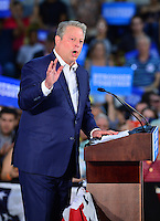 MIAMI, FL - OCTOBER 11: Former Vice President Al Gore  speaks during a campaign rally with Democratic presidential nominee and former Secretary of State Hillary Clinton at the Miami Dade College - Kendall Campus, Theodore Gibson Center on October 11, 2016 in Miami, Florida. Credit: MPI10 / MediaPunch