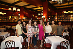 Wen Chen, Qianda Rao, Leah Lane, Xuejiao Bai , Bonnie Comley, Yanping Ma, Zhenzhu Ma and Zhiyong Liu attend Central Academy of Drama: Professors Visit Sardi's on September 24, 2017 at the Drama League Center  in New York City.