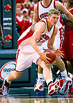 University of Wisconsin forward (30) Dave Mader during the Maryland game at the Bradley Center in Milwaukee, WI, on 11/29/00. (Photo by David Stluka)