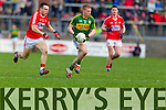 Pa Kilkenny Kerry in action against John O'Rourke Cork in the National Football League at Pairc Ui Rinn, Cork on Sunday.