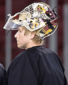 Joe Pearce - Boston College's morning skate on Saturday, December 31, 2005 at Magness Arena in Denver, Colorado.  Boston College defeated Princeton that night to win the Denver Cup.