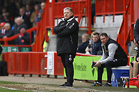 Crawley Town manager John Yems during Crawley Town vs Oldham Athletic, Sky Bet EFL League 2 Football at Broadfield Stadium on 7th March 2020