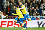 UD Las Palmas' Tana Dominguez (l) and David Simon celebrate goal during La Liga match. March 1,2017. (ALTERPHOTOS/Acero)