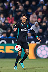 Raphael Varane of Real Madrid in action during the Copa del Rey 2017-18 match between CD Leganes and Real Madrid at Estadio Municipal Butarque on 18 January 2018 in Leganes, Spain. Photo by Diego Gonzalez / Power Sport Images