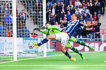 Stockholm 2014-04-27 Fotboll Allsvenskan Djurg&aring;rdens IF - IF Brommapojkarna :  <br /> Djurg&aring;rdens Aleksandar Prijovic g&ouml;r 3-2 f&ouml;r Djurg&aring;rden bakom Brommapojkarnas m&aring;lvakt Ivo Vazgec i den andra halvleken<br /> (Foto: Kenta J&ouml;nsson) Nyckelord:  Djurg&aring;rden DIF Tele2 Arena Brommapojkarna BP jubel gl&auml;dje lycka glad happy