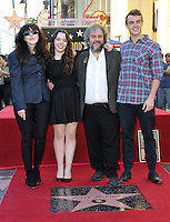 Director Peter Jackson &amp; wife Fran Walsh &amp; children on Hollywood Blvd where he was honored with the 2,538th star on the Hollywood Walk of Fame.<br /> December 8, 2014  Los Angeles, CA<br /> Picture: Paul Smith / Featureflash