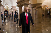 United States President-elect Donald Trump walks to his swearing-in ceremony at the Capitol in Washington, Friday, Jan. 20, 2017.  <br /> Credit: J. Scott Applewhite / Pool via CNP