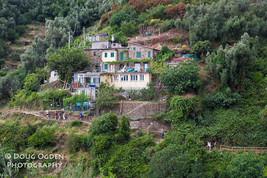 Residences along the trail, Cinque Terre, Italy