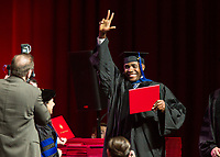 NWA Democrat-Gazette/BEN GOFF @NWABENGOFF<br /> Photos Saturday, May 11, 2019, during the University of Arkansas all university commencement ceremony in Bud Walton Arena in Fayetteville.