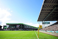A general view of Welford Road. Aviva Premiership match, between Leicester Tigers and Bath Rugby on September 25, 2016 at Welford Road in Leicester, England. Photo by: Patrick Khachfe / Onside Images