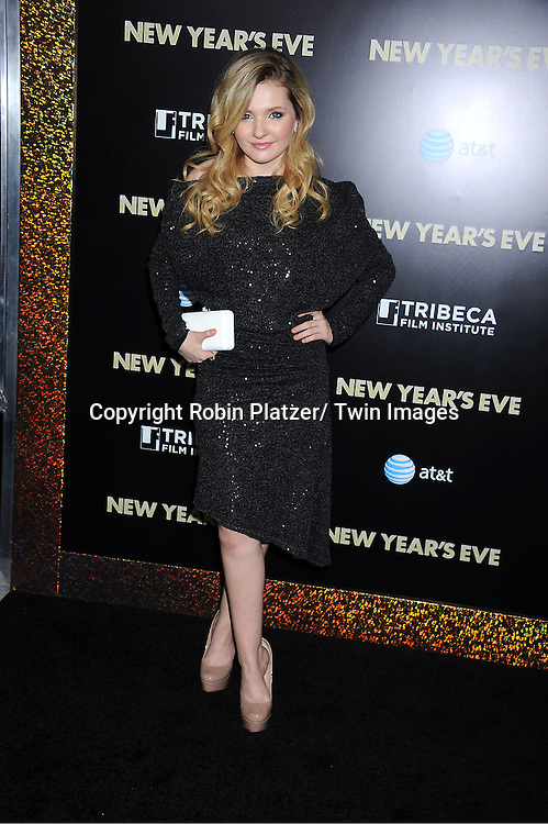 "Abigail Breslin attends The Special Screening of "" New Year's Eve"" on .December 7, 2011 at The Ziegfeld Theatre in New York City. The evening is sponsored by AT & T and is benefitting The Tribeca Film Institute ."
