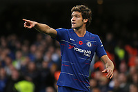 Marcos Alonso of Chelsea during Chelsea vs Everton, Premier League Football at Stamford Bridge on 11th November 2018