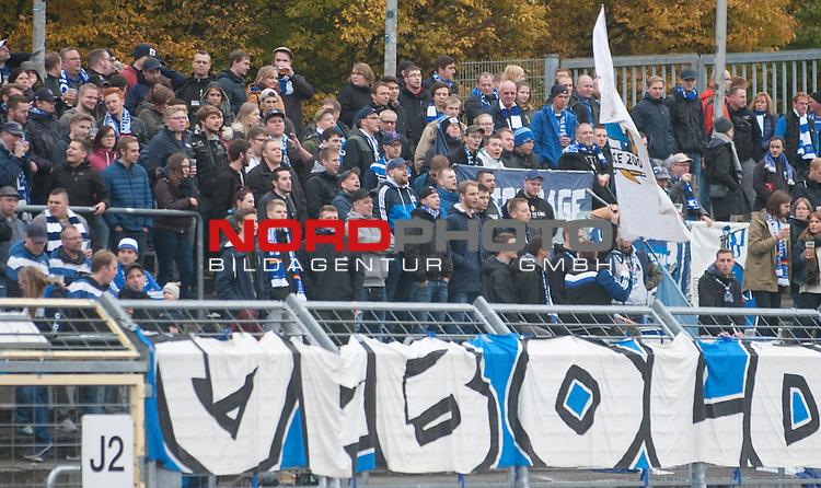 30.10.2016, Marschwegstadion, Oldenburg, GER, Regionalliga Nord, VfB Oldenburg vs L&uuml;neburger Sport-Klub, im Bild<br /> <br /> die VfB-Fans<br />  (VfB Oldenburg #)<br /> <br /> Foto &copy; nordphoto / Rojahn