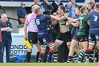 Tempers get heated during the Greene King IPA Championship match between London Scottish Football Club and Nottingham Rugby at Richmond Athletic Ground, Richmond, United Kingdom on 15 April 2017. Photo by David Horn.