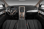 Straight dashboard view of a 2011 Lincoln MKX.