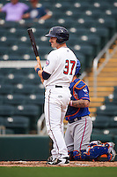 Fort Myers Miracle designated hitter A.J. Murray (37) at bat during a game against the St. Lucie Mets on August 9, 2016 at Hammond Stadium in Fort Myers, Florida.  St. Lucie defeated Fort Myers 1-0.  (Mike Janes/Four Seam Images)