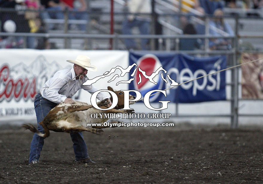 29 Aug 2009:   Shawn Lieuallen scored a time of 13.5 in the Tie Down Roping competition at the Kitsap County Wrangler Million Dollar PRCA Pro Rodeo Tour in Bremerton, Washington.