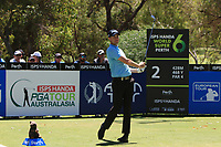 Adam Blyth (AUS) in action on the 2nd during Round 3 of the ISPS Handa World Super 6 Perth at Lake Karrinyup Country Club on the Saturday 10th February 2018.<br /> Picture:  Thos Caffrey / www.golffile.ie<br /> <br /> All photo usage must carry mandatory copyright credit (&copy; Golffile | Thos Caffrey)