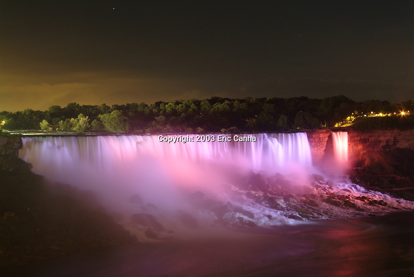 The American Niagara Falls as seen from Canada.