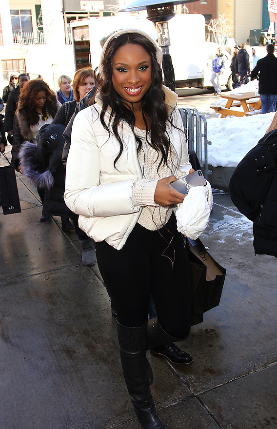 Jennifer Hudson is seen on Main street in Park City during the Sundance Film Festival on Friday, Jan 18, 2013.