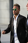 FC Barcelona's player Neymar Jr. arrives to the national court to testify in an investigation into alleged irregularities regarding his transfer to Barcelona, in Madrid, Spain. February 02, 2016. (ALTERPHOTOS/Victor Blanco)
