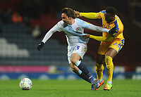 Blackburn Rovers' Bradley Dack under pressure from Wigan Athletic's Cheyenne Dunkley<br /> <br /> Photographer Kevin Barnes/CameraSport<br /> <br /> The EFL Sky Bet Championship - Blackburn Rovers v Wigan Athletic - Tuesday 12th March 2019 - Ewood Park - Blackburn<br /> <br /> World Copyright © 2019 CameraSport. All rights reserved. 43 Linden Ave. Countesthorpe. Leicester. England. LE8 5PG - Tel: +44 (0) 116 277 4147 - admin@camerasport.com - www.camerasport.com