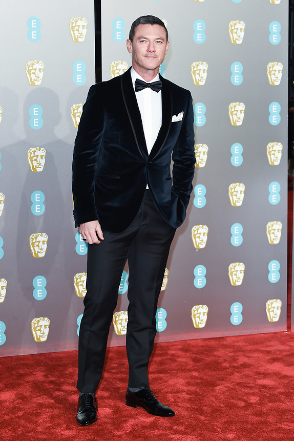 Luke Evans<br /> arriving for the BAFTA Film Awards 2019 at the Royal Albert Hall, London<br /> <br /> ©Ash Knotek  D3478  10/02/2019