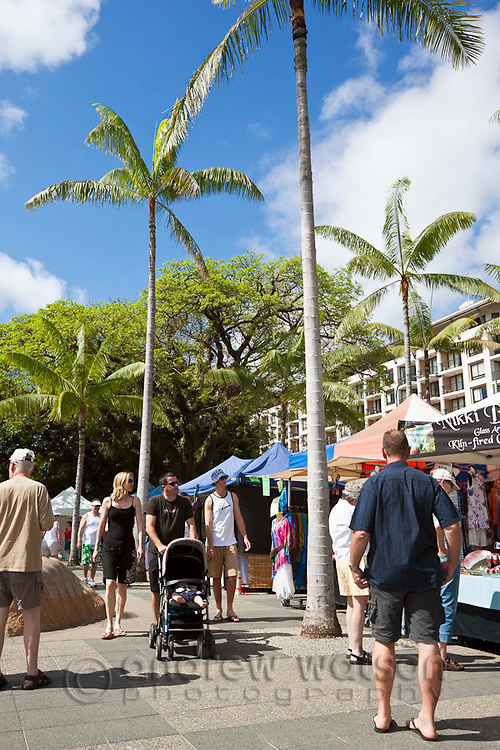 The Esplanade Markets, held every weekend beside the Lagoon.  Cairns, Queensland, Australia