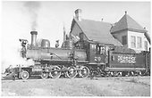 RGS 4-6-0 #20 at station in Ridgway.<br /> RGS  Ridgway, CO