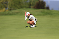 Mi Hyang Lee (KOR) on the 5th green during Thursday's Round 1 of The Evian Championship 2018, held at the Evian Resort Golf Club, Evian-les-Bains, France. 13th September 2018.<br /> Picture: Eoin Clarke | Golffile<br /> <br /> <br /> All photos usage must carry mandatory copyright credit (© Golffile | Eoin Clarke)