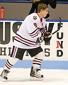Garrett Vermeersch (NU - 9) - The Northeastern University Huskies defeated the Bentley University Falcons 3-2 on Friday, October 16, 2009, at Matthews Arena in Boston, Massachusetts.