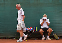 2013,August 21,Netherlands, Amstelveen,  TV de Kegel, Tennis, NVK 2013, National Veterans Tennis Championships,   Changeover<br /> Photo: Henk Koster