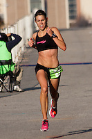 Amanda Dunne sprints to victory in the women's category of the 2011 St. Louis Rock 'n' Roll Half-Marathon, October 23. Dunne, an Iowa native and former All-American runner at the University of Missouri, covered the 13.1 mile course in 1:20.08.