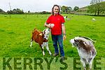 John Lenihan on his farm in Glounageenty on Monday as he feeds his pet calf.