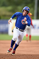 Alex Webb (55) of Columbia Central High School in Columbia, Tennessee playing for the Chicago Cubs scout team during the East Coast Pro Showcase on August 2, 2014 at NBT Bank Stadium in Syracuse, New York.  (Mike Janes/Four Seam Images)