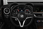Car pictures of steering wheel view of a 2018 Alfa Romeo Stelvio Ti 5 Door SUV