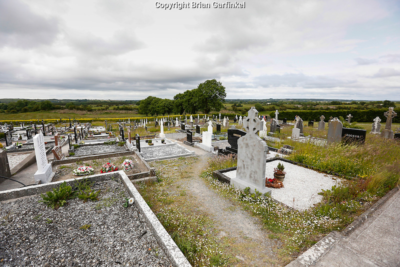 A view of the cemetery behind Saint Patrick's Church in Granlahan, County Roscommon, Ireland on Tuesday, June 25th 2013. (Photo by Brian Garfinkel)