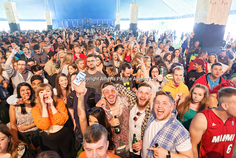 Pictured: Jorja Smith fans. Saturday 26 May 2018<br /> Re: BBC Radio 1 Biggest Weekend at Singleton Park in Swansea, Wales, UK.