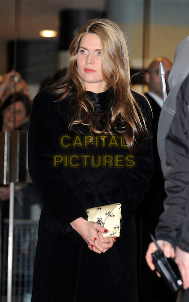 CELIA WALDEN.Arrivals - 2009 Brit Awards, Earls Court, London, England..February 18th 2009.brits half length black coat .CAP/FIN.©Steve Finn/Capital Pictures.