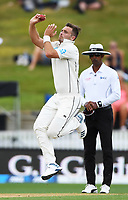 2nd December, Hamilton, New Zealand; Tim Southee bowling on day 4 of the 2nd test cricket match between New Zealand and England  at Seddon Park, Hamilton, New Zealand.